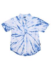 Boys - Spiral Tie Dye Woven Shirt (8-20)-2226463