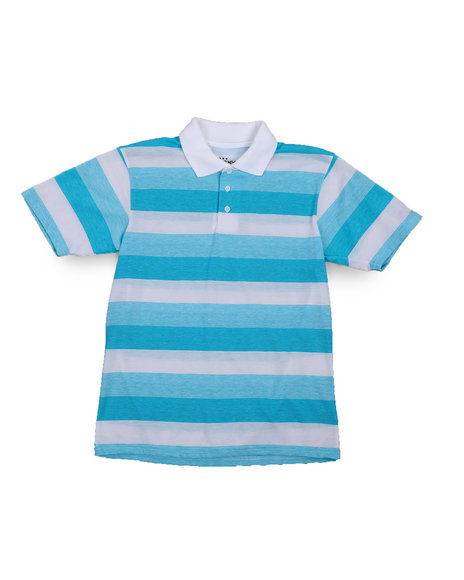 Arcade Styles - Stripe Polo Shirt (8-20)