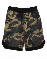 Bottoms - Camo Print Mesh Shorts (8-20)-2227496