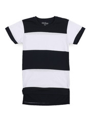 Boys - Crew Neck Rugby Stripe Tee (8-20)-2226831