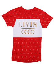 Boys - Livin Good Crew Neck Tee (4-7)-2226943