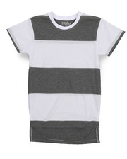 Boys - Crew Neck Rugby Stripe Tee (8-20)-2227360