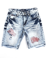Boys - Fly Sport Washed Denim Shorts (8-20)-2227505