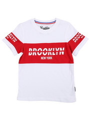 Boys - Retro Brooklyn Block Tee (8-20)-2227008