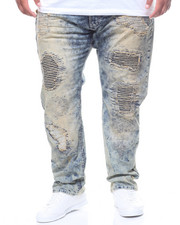 Makobi - Paint Splashed Ripped Denim Jean (B&T)-2228474