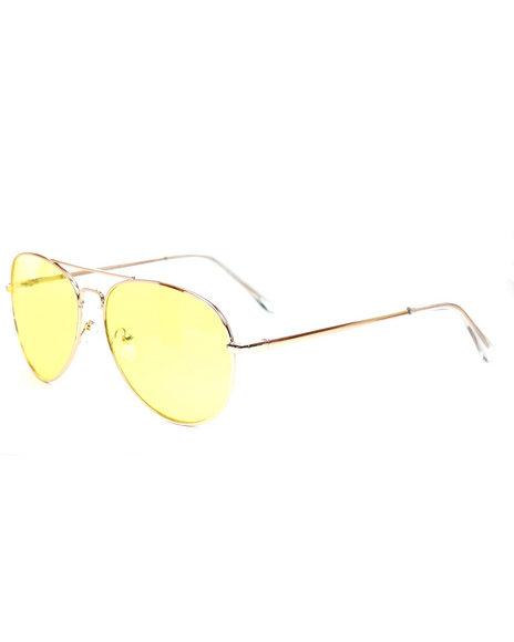 DRJ Sunglasses Shoppe - Yellow Aviator Sunglasses