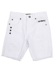 Boys - Fly United Washed Denim Shorts (4-7)-2229007
