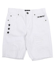 Boys - Fly United Washed Denim Short (8-20)-2229012