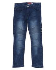 Arcade Styles - Deep Blue Moto Jeans (8-20)-2228970