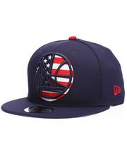 NBA, MLB, NFL Gear - 9Fifty Golden State Warriors Flag Fill Snapback Hat-2229835