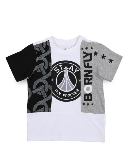 Fly United Chopped Tee (4 7) by Born Fly
