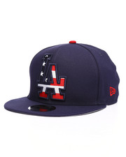 NBA, MLB, NFL Gear - 9Fifty LA Dodgers Flag Fill Snapback Hat-2229836