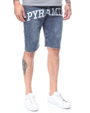 Black Pyramid - Slim Fit Pyramid Checker Denim Short-2230201