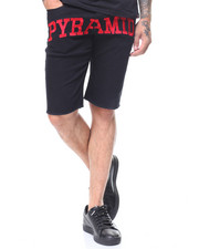 Black Pyramid - Slim Fit Pyramid Checker Denim Short-2230215