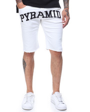 Black Pyramid - Slim Fit Pyramid Checker Denim Short-2230187