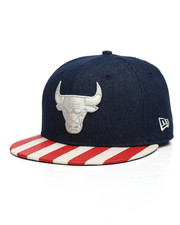 New Era - 9Fifty Chicago Bulls Fully Flagged Snapback Hat-2230434