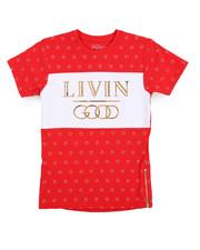 Boys - Livin Good Crew Neck Tee (8-20)-2230635
