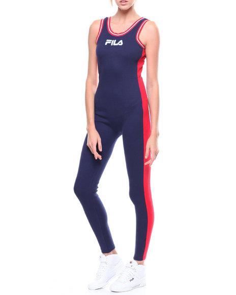 af81ab321fb Buy Ivory Stripe Side Unitard Women s Jumpsuits from Fila. Find Fila ...