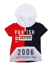 Sizes 2T-4T - Toddler - Stadium French Terry Nylon Block Hooded Tee (2T-4T)-2231463