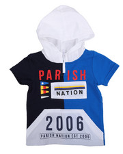 Sizes 2T-4T - Toddler - Stadium French Terry Nylon Block Hooded Tee (2T-4T)-2231477