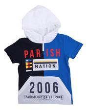 Sizes 4-7x - Kids - Stadium French Terry Nylon Block Hooded Tee (4-7)-2231481