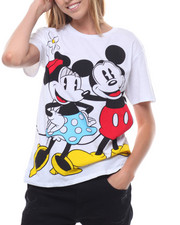 Graphix Gallery - Mickey & Minnie Mouse Front/Back Print Tees-2231402