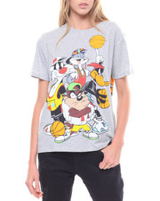 Graphix Gallery - Looney Tunes Basketball Front/Back Print Tees-2231392