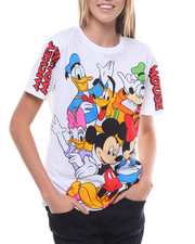 Women - Mickey & Friends Wind Print Tee-2231397