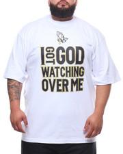 Big & Tall - I Got God Watching Over Me Tee (B&T)-2231797