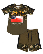 Boys - Americana Sport 2 Piece Short Set (4-7)-2231605