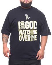 Big & Tall - I Got God Watching Over Me Tee (B&T)-2231793