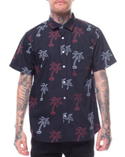 Flysociety - S/S Allover Palm Tree Print Woven-2231002
