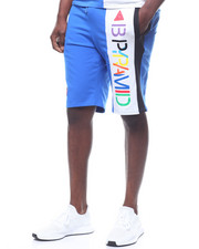 Black Pyramid - BPyramid Color Block Shorts-2232532
