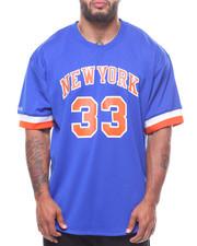 Jerseys - S/S New York Knicks 33 Patrick Ewing Crew Neck Tee (B&T)-2232407