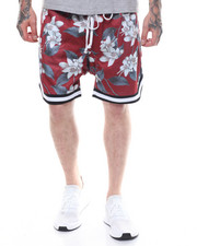 Crysp - Jordan Drop Crotch Ball Short -RED FLORAL-2233589