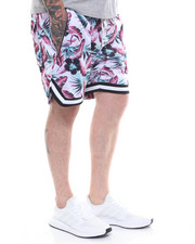 Crysp - Jordan Drop Crotch Ball Short -WHITE FLORAL-2233615