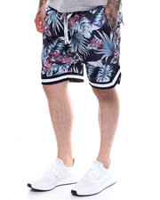 Crysp - Jordan Drop Crotch Ball Short -BLACK FLORAL-2233609