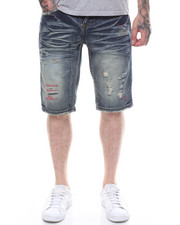 Shorts - DENIM RED STITCH REPAIRED SHORT-2233672