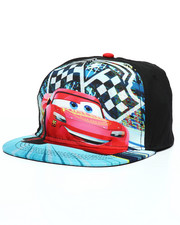 Accessories - Cars 3 Lightning Mcqueen Finish Line Strapback Hat-2233438