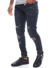 Jeans & Pants - BIKER RIP OFF JEAN- TAUPE BLUE-2234427