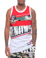 Tanks - CAMO CUT AND SEW TANK-2234025