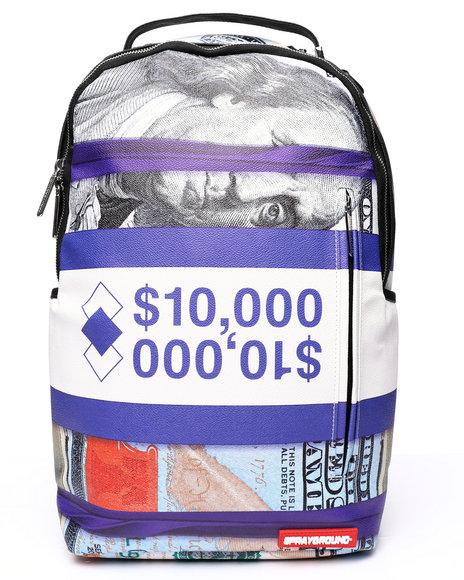 Sprayground - Purple Money Bands Backpack (Unisex)