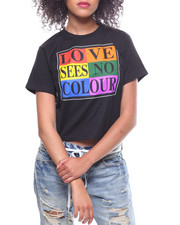 Cross Colours - Love Sees Crop T-Shirt-2233751