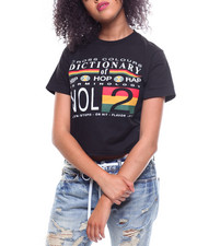 Cross Colours - Hip Hop Dictionary Crop T-shirt-2233756