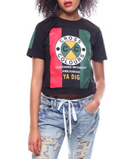 Cross Colours - Flag Logo Crop T-Shirt-2233786