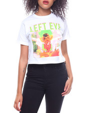 Tops - S/S Left Eye Glasses Artistic Render Cropped T-Shirt-2233776