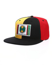 Cross Colours - Color Block Denim Snapback Hat-2234812