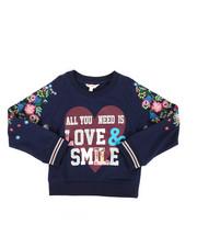 Tops - Glitter Print Sweatshirt (4-6X)-2233711