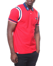 Polos - RIBBED INSERT POLO W BEE-2236250