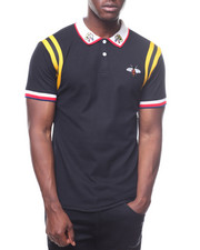 Polos - RIBBED INSERT POLO W BEE-2236279